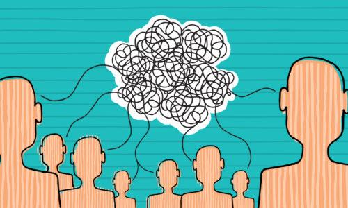 illustration of miscommunication among employees